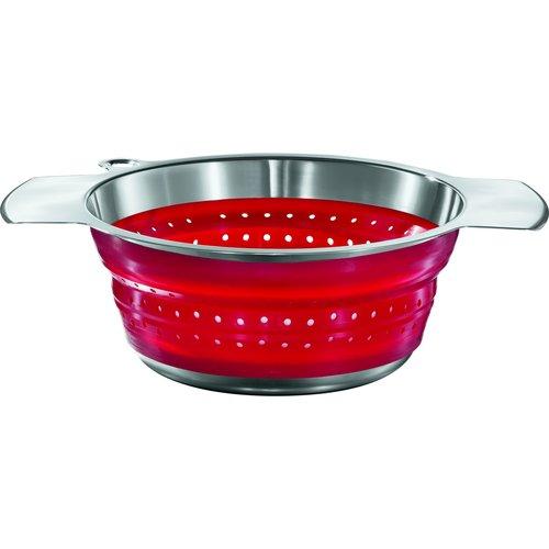 Rosle Foldable Colander Red 24cm. ROSLE