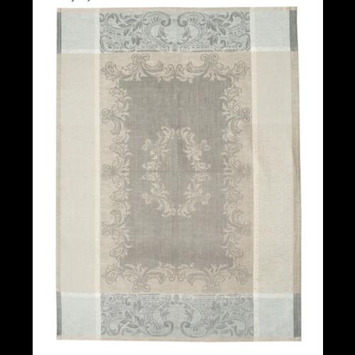 Linenway Tea Towel Majesty Flax, Castor Grey & White