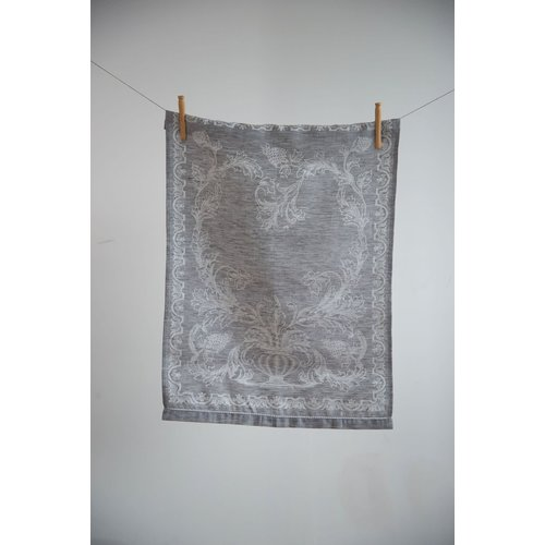 Linenway Tea Towel Versailles Graphite