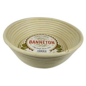 "BANNETON BANNETON Angled Round Basket 10""x3"""