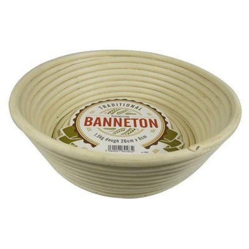 "Port-Style BANNETON Angled Round Basket 10""x3"""