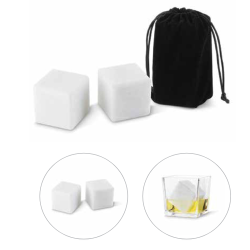 Fox Run Marble Ice Cubes with Pouch Extra Large Size