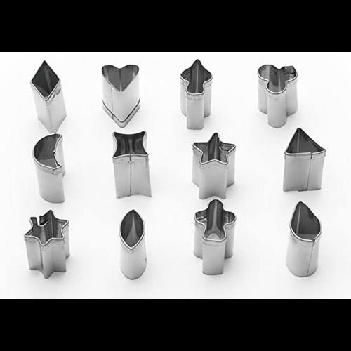 Fox Run Tiny Micro Pie Cutters/ 12 pieces