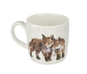 WRENDALE MUG Born to Be Wild Foxes