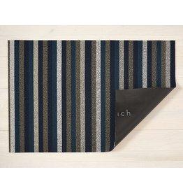 "Chilewich Utility Mat Even Stripe Shag MARINE 24"" x 36"""