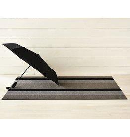 """Chilewich Utility Mat Bold Stripe Shag SILVER/BLACK - 24"""" X 36"""""""