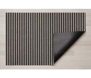 Doormat Breton Stripe Shag GRAVEL 18 x 28 inches