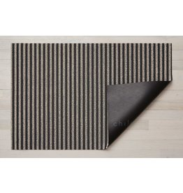 "Chilewich Big Mat Breton Stripe Shag GRAVEL 36"" X 60"""