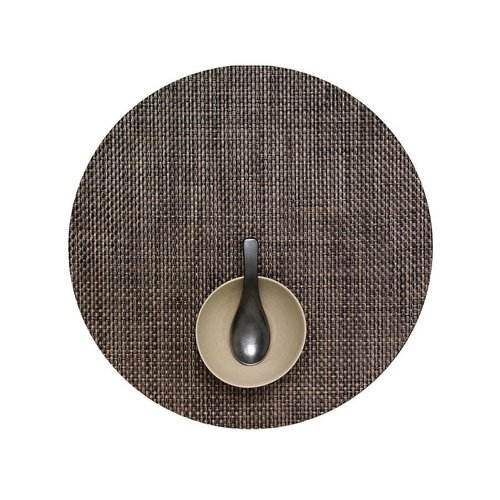 Chilewich Placemat Basketweave Round EARTH