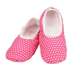 Snoozies Snoozies Slippers Mixed Pink with Dots Large