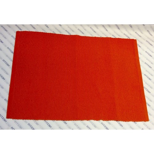 """Texstyles Deco PLACEMAT SOLID RIB POLY/COTTON ORANGE- 13"""" X 19"""""""