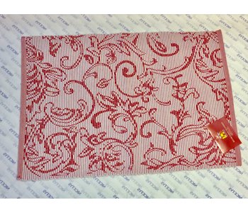 """PLACEMAT POLY/COTTON DECO RED - 13"""" X 19"""""""