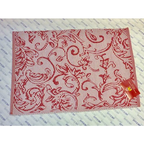 """Texstyles Deco PLACEMAT POLY/COTTON DECO RED - 13"""" X 19"""""""