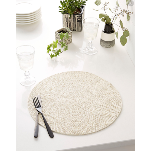 Placemat Braided Beige with Gold Fleck