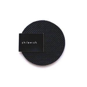 Chilewich Coasters OnEdge MNBK Round BLACK/Set of 4