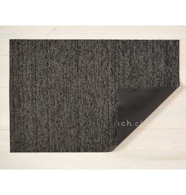"Chilewich Doormat Heathered SHAG Black/Tan 18"" X 28"""