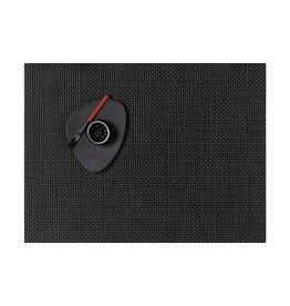 "Chilewich Placemat Basketweave Black 14"" X 19"""