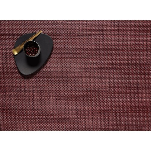 """Chilewich Placemat Basketweave PLUM 14"""" X 19"""""""