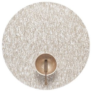 Chilewich Placemat Metallic Lace Round GOLD