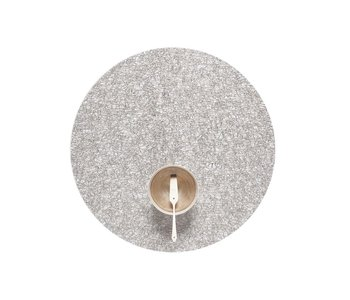 Placemat Metallic Lace Round SILVER