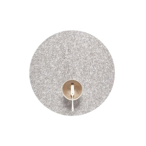 Chilewich Placemat Metallic Lace Round SILVER