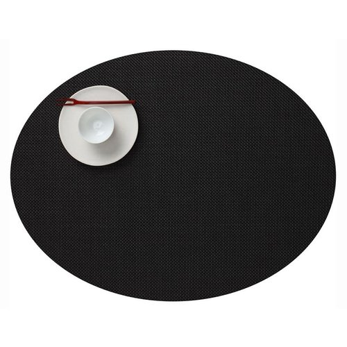 Chilewich Placemat Mini Basketweave Oval BLACK
