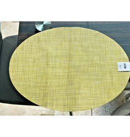 Chilewich Placemat Mini Basketweave Oval LEMON