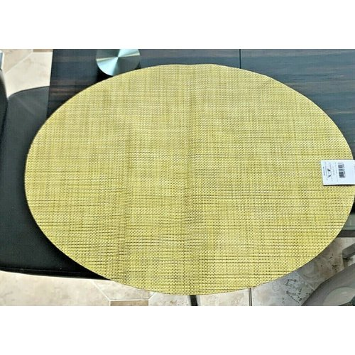 Chilewich Placemat Mini Basketweave Oval LEMON