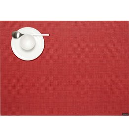 Chilewich Placemat Rectangle Mini Basketweave PIMENTO