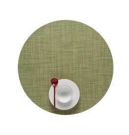 Chilewich Placemat Round Mini Basketweave DILL