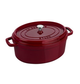 Henckel Dutch oven oval 5.7 QT STAUB Bordeaux Red