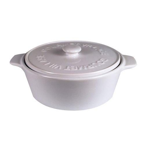Gourmet du Village Brie Baker White Ceramic