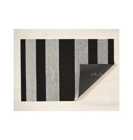 "Chilewich Big Mat Bold Stripe Shag WHITE/BLACK - 36"" X 60"""