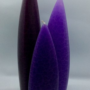 Barrick Design Candle Asymetrical Crackle Grape