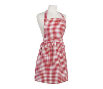 Apron with Prints Red Gingham