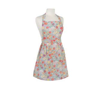 Apron with Prints Spring Flowers
