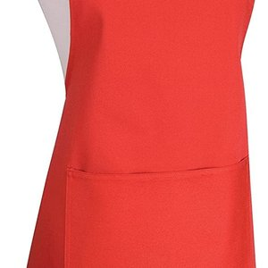 Danica Apron Chef Plain  Red
