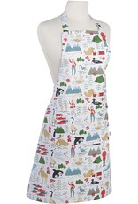 Danica Apron with Prints True North