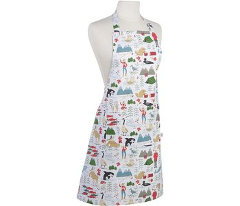 Apron with Prints True North