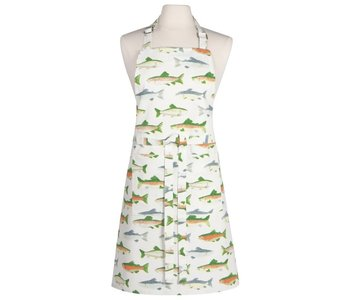 Apron with Prints Gone Fishing