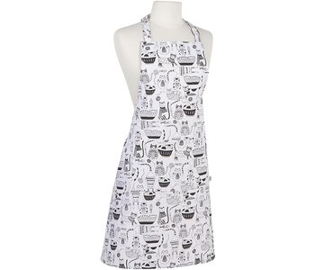 Apron with Prints Purr Party