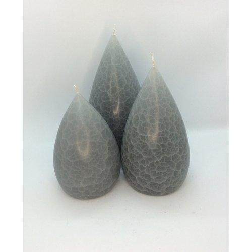 Barrick Design Candle Stout Crackle Light Grey