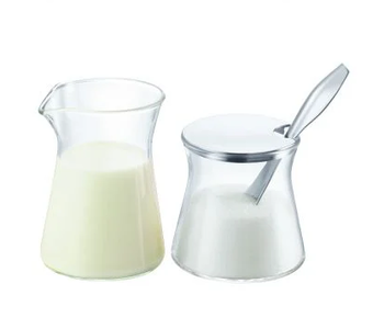 BODUM Glass Sugar and Creamer