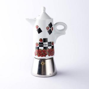 Ancap FRAGOLE Moka Espresso Maker Giotto (Strawberry)