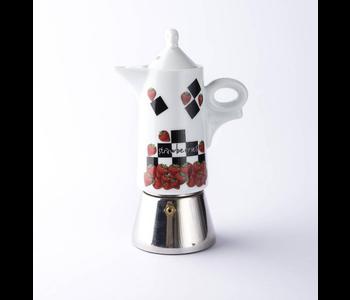 FRAGOLE Moka Espresso Maker Giotto (Strawberry)