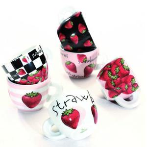 Ancap FRAGOLE Espresso Strawberry Cup and Saucer