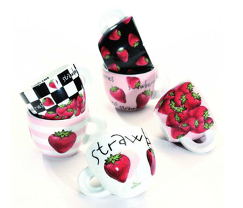 FRAGOLE Espresso Strawberry Cup and Saucer