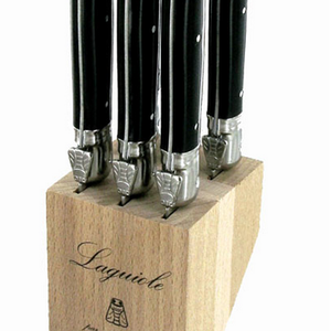 Laguiole Laguiole Steak knife set in block Black