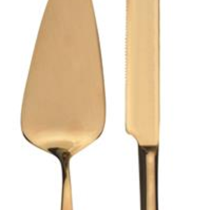 Natural Living CAKE SERVERS GOLD
