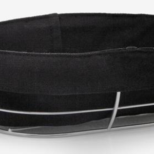 Natural Living Bread Basket with Black Canvas